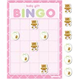 Creative Converting Baby Shower Teddy Baby Pink 10 Count Bingo Game