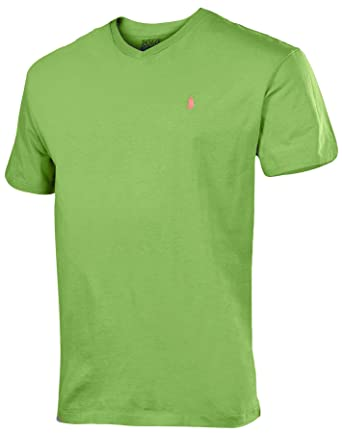Ralph Lauren Men's Green Polo Shirt V T Small Neck Vernal vwNmnO80