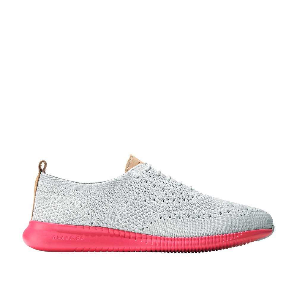 Cole Haan Women's 2 Zerogrand Oxford With Stitchlite 8 Vapor Gray Knit-Flash by Cole Haan