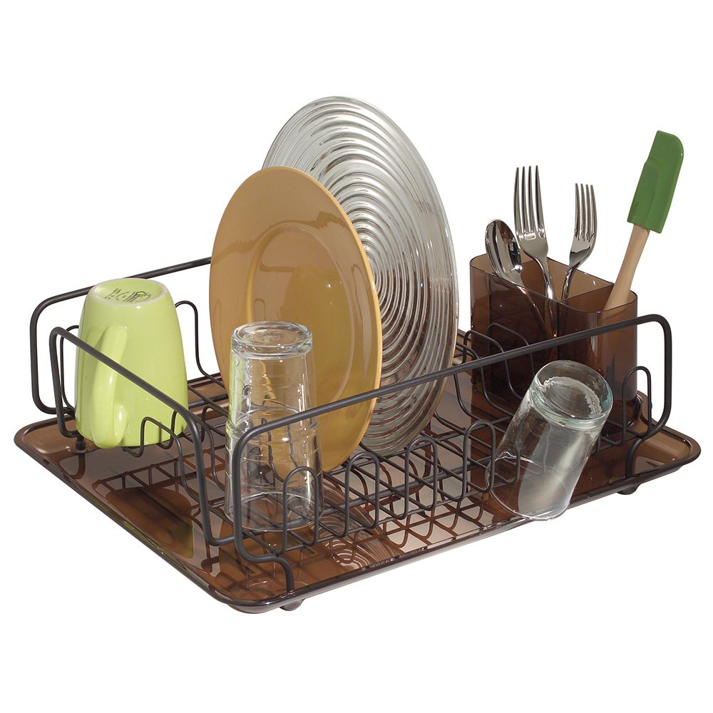Attractive Amazon.com: InterDesign Forma Kitchen Dish Drying Rack With Tray U2013 Drainer  For Drying Glasses, Silverware And Dishes, Amber/Bronze: Home U0026 Kitchen
