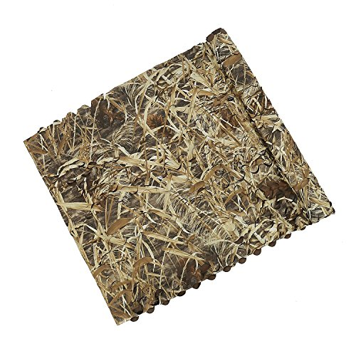 Auscamotek Duck Blind Material Camo Netting for Bird Hunting Boat Cover Camoflage Nets Dry Grass Pattern 5ft×20ft Duck Hunting Boat Blinds