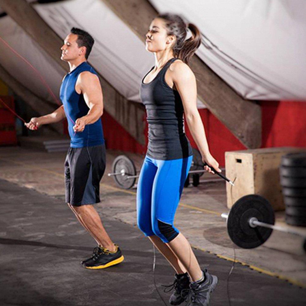 High Speed Cuerda de Saltar MMA Crossfit hiit ideal para cajas entrenamiento en intervalos /& Double Unders de amarillo Speed Rope Spring