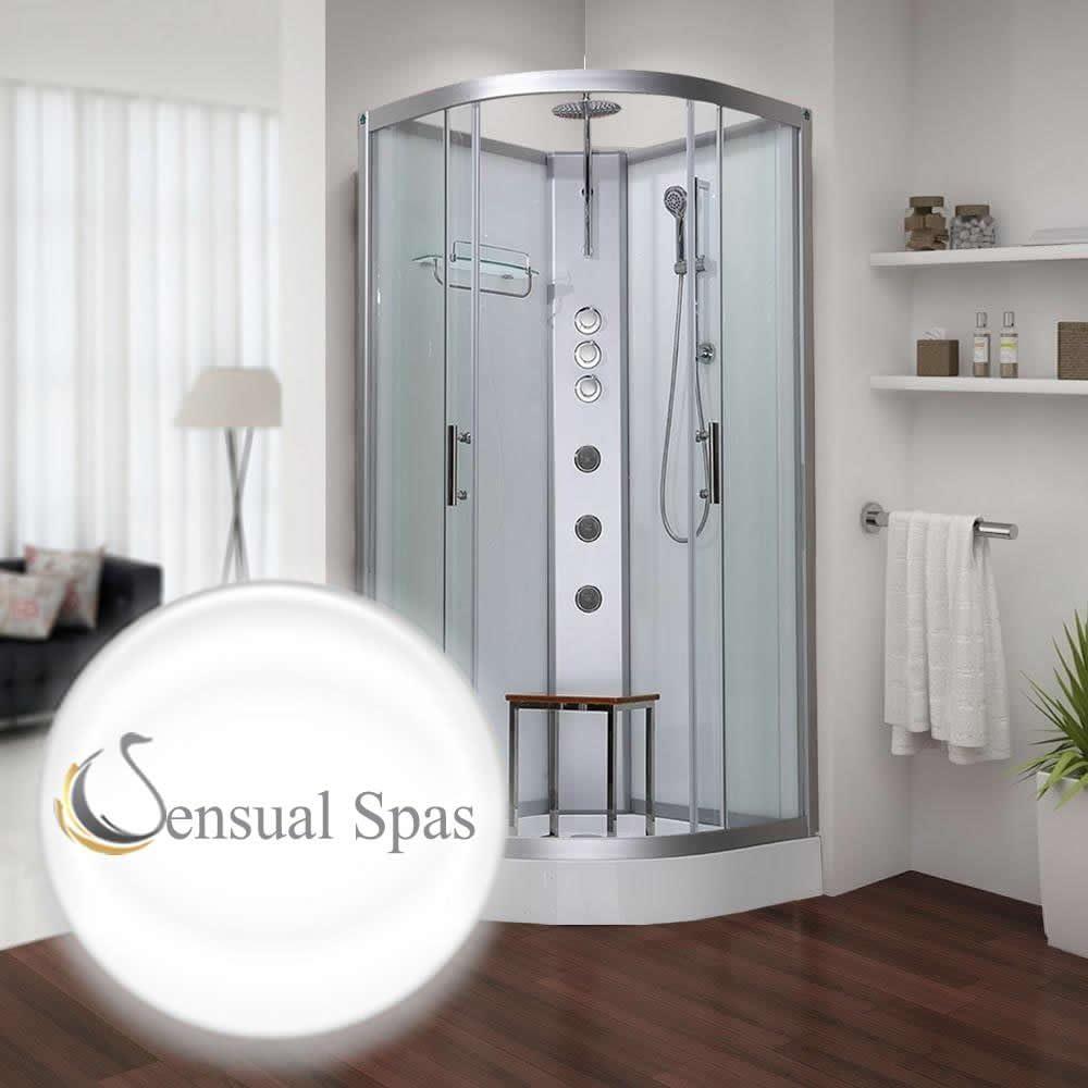 Sensual Spas Pure 900 blanco cabina de ducha 900 x 900 – Garantía ...