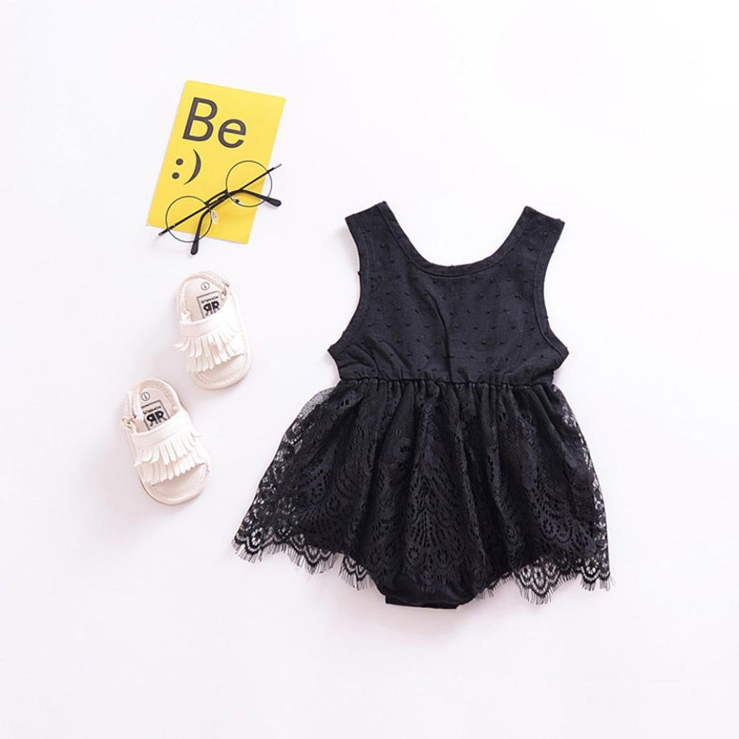 KONFA Toddler Infant Baby Girls Lace Dress Romper,Suitable for 0-18 Months,Little Princess Jumpsuit Clothes Set