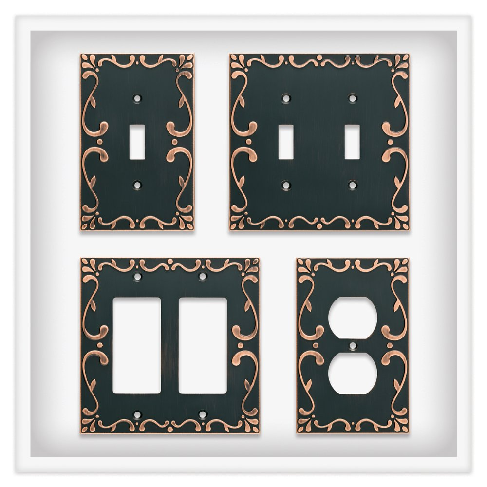 Franklin Brass W35078-VBC-C Classic Lace Triple Switch Wall Plate/Switch Plate/Cover with Copper Highlights, Bronze by Franklin Brass (Image #4)