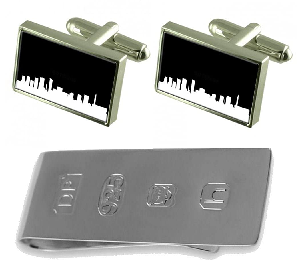 Select Gifts Skyline Birmingham Cufflinks /& James Bond Money Clip