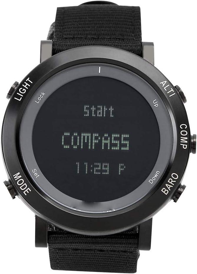 Tbest Reloj Deportivo Multifuncional Impermeable Altímetro Compás Brújula Cronómetro Barómetro Podómetro Smartwatches para Hombres y Mujeres