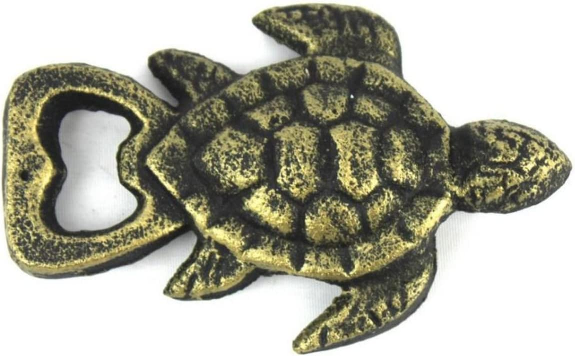 Rustic Sealife Gift Cast Iron Turtle Bottle Opener 4.5 Inch Cast Iron Bottle Opener