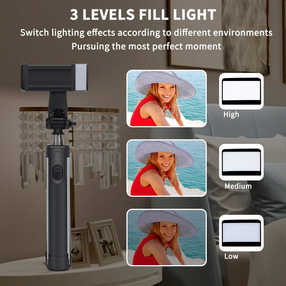POWERXIS Palo Selfie Tr/ípode Bluetooth Palo Selfie con Mando a Distancia Inal/ámbrico para Viaje Autofoto 3 en 1 Monopie para iPhone Android Samsung Galaxy Huawei y GoPro//C/ámara Peque/ña
