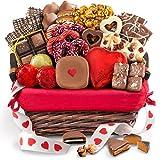 Golden State Fruit Valentine Chocolate Bliss Handmade Assortment Gift Basket