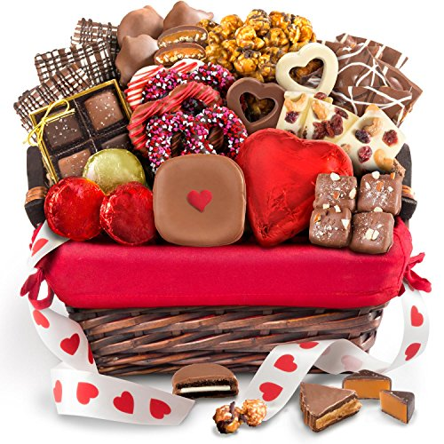 Chocolate Bliss Basket (Golden State Fruit Valentine Chocolate Bliss Handmade Assortment Gift Basket)