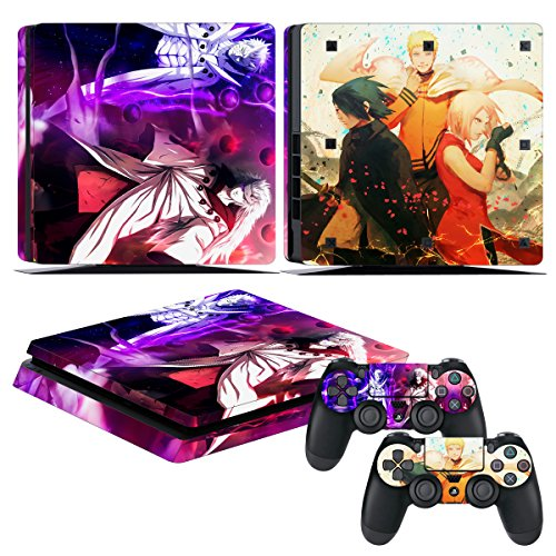 EBTY-Dreams Inc. - Sony Playstation 4 Slim (PS4 Slim) - Naruto Anime Uchiha Obito, Madara, Sasuke, Haruno Sakura & Uzumaki Naruto Vinyl Skin Sticker Decal Protector