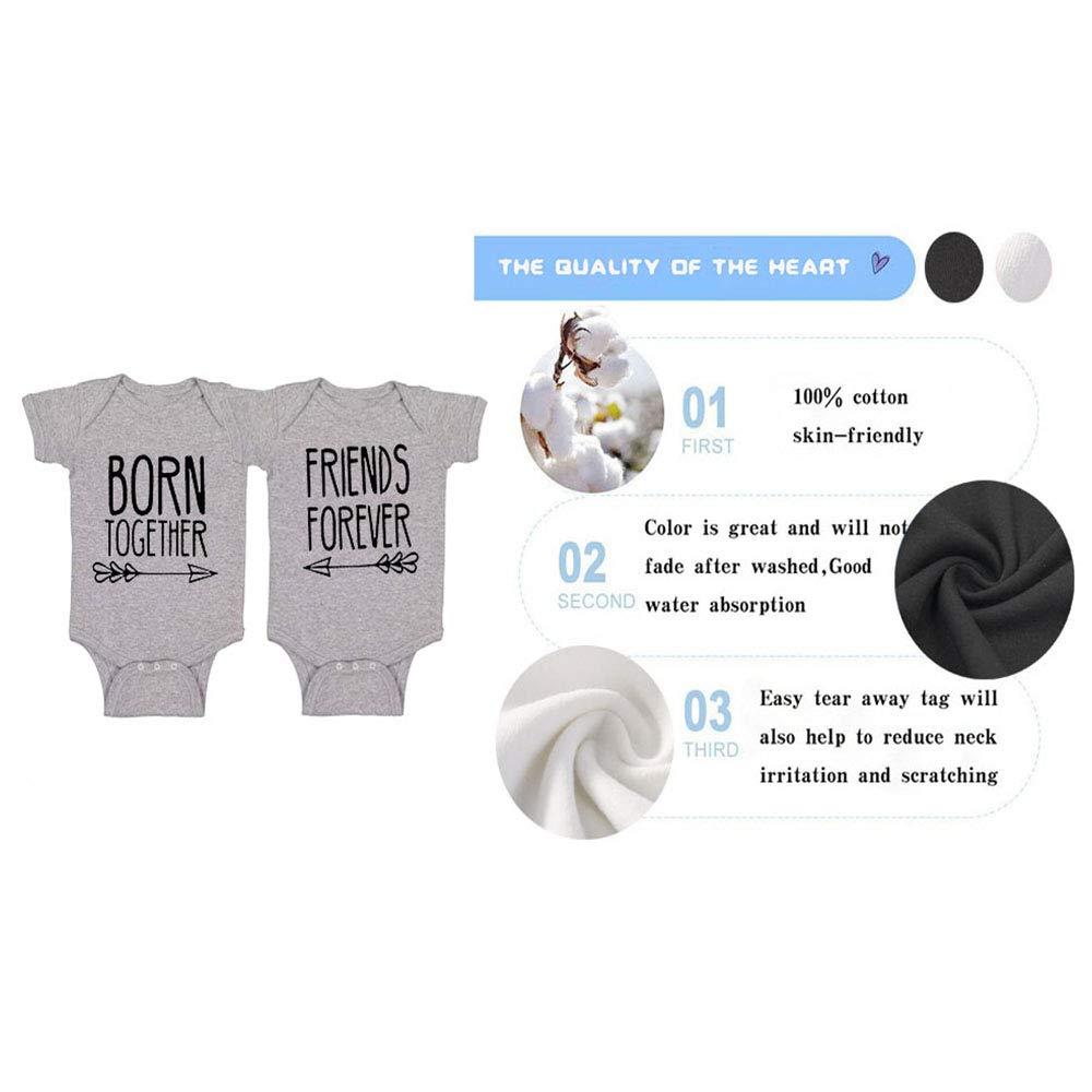 culbutomind Baby Strampler Friends Forever Twin Fun Baby Geschenke Geburt Erstausstattung