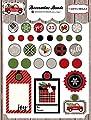 Carta Bella Paper Company CBCD58020 Christmas Delivery Decorative Brads