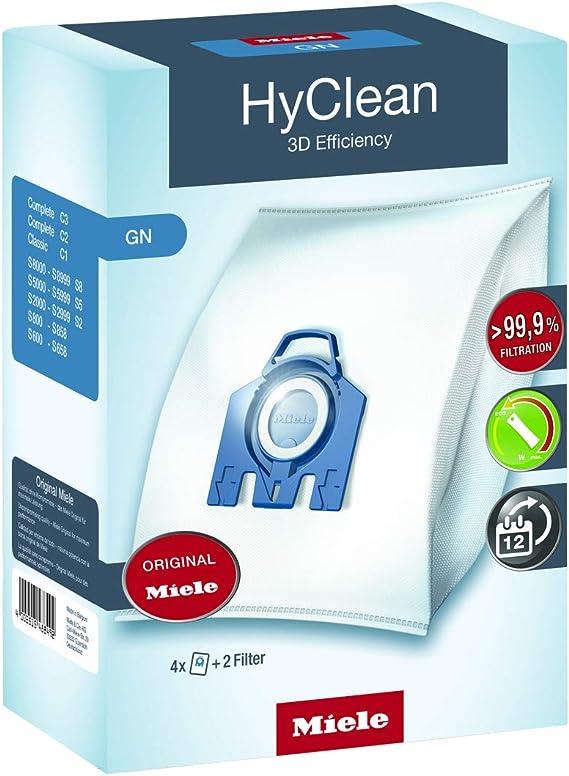 Miele 9917730 - Pack De 4 Bolsas De Aspirador G/N Hyclean Eficiencia 3D: Amazon.es: Hogar