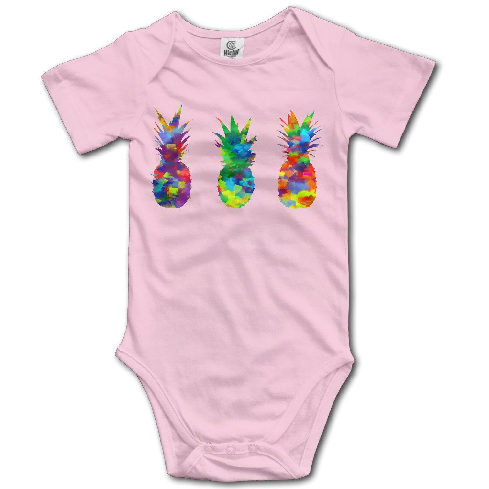 PINEAPPLES Watercolor Painting Funny Baby Onesie Cute Cartoon Logo Print Collectible