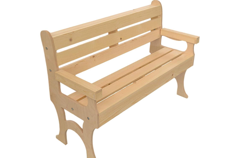 Phenomenal Amazon Com Wooden Park Bench Garden Outdoor Alphanode Cool Chair Designs And Ideas Alphanodeonline