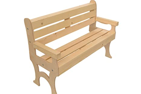 Admirable Amazon Com Wooden Park Bench Garden Outdoor Evergreenethics Interior Chair Design Evergreenethicsorg