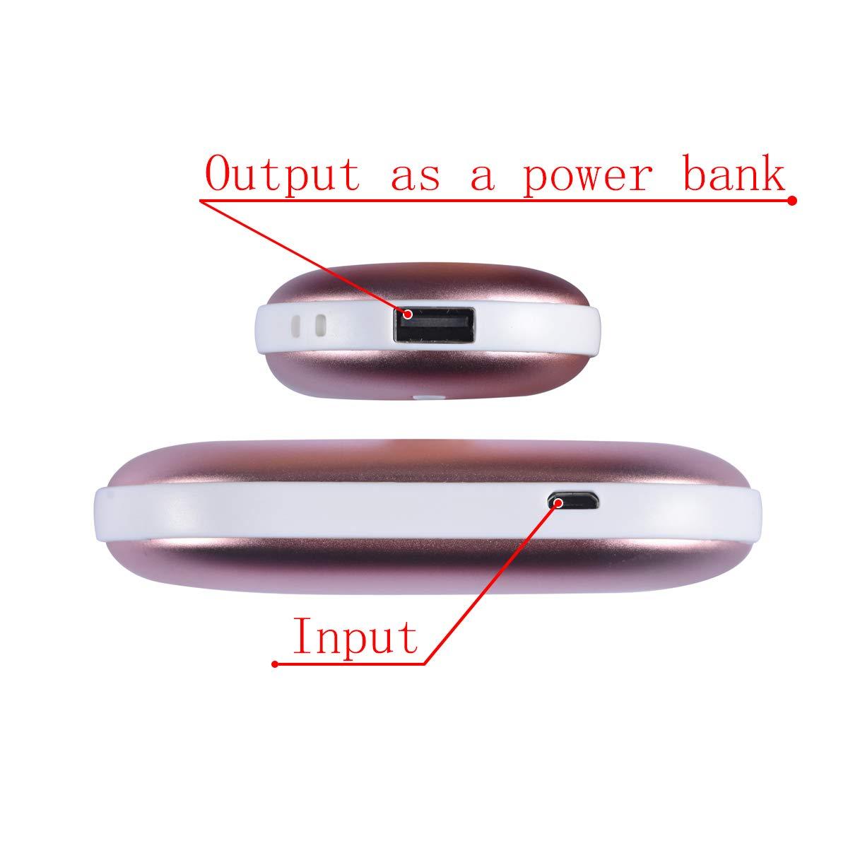 Artiky Hand Warmers Rechargeable 5200mAh Electric Hand Warmer//Power Bank Reusable Portable USB Heater Battery Hot Pocket Warmer Heat Handwarmers Rechargeable Hand Warmers