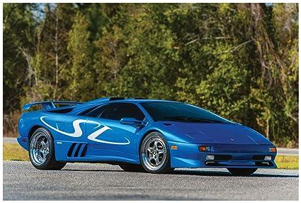 Amazon Com Lamborghini Diablo Sv Monterey Edition 1998 Car Art