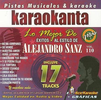 Various Various Various Karaokanta Kar 8110 Alejandro Sanz Lo Mejor De Spanish Cdg Music