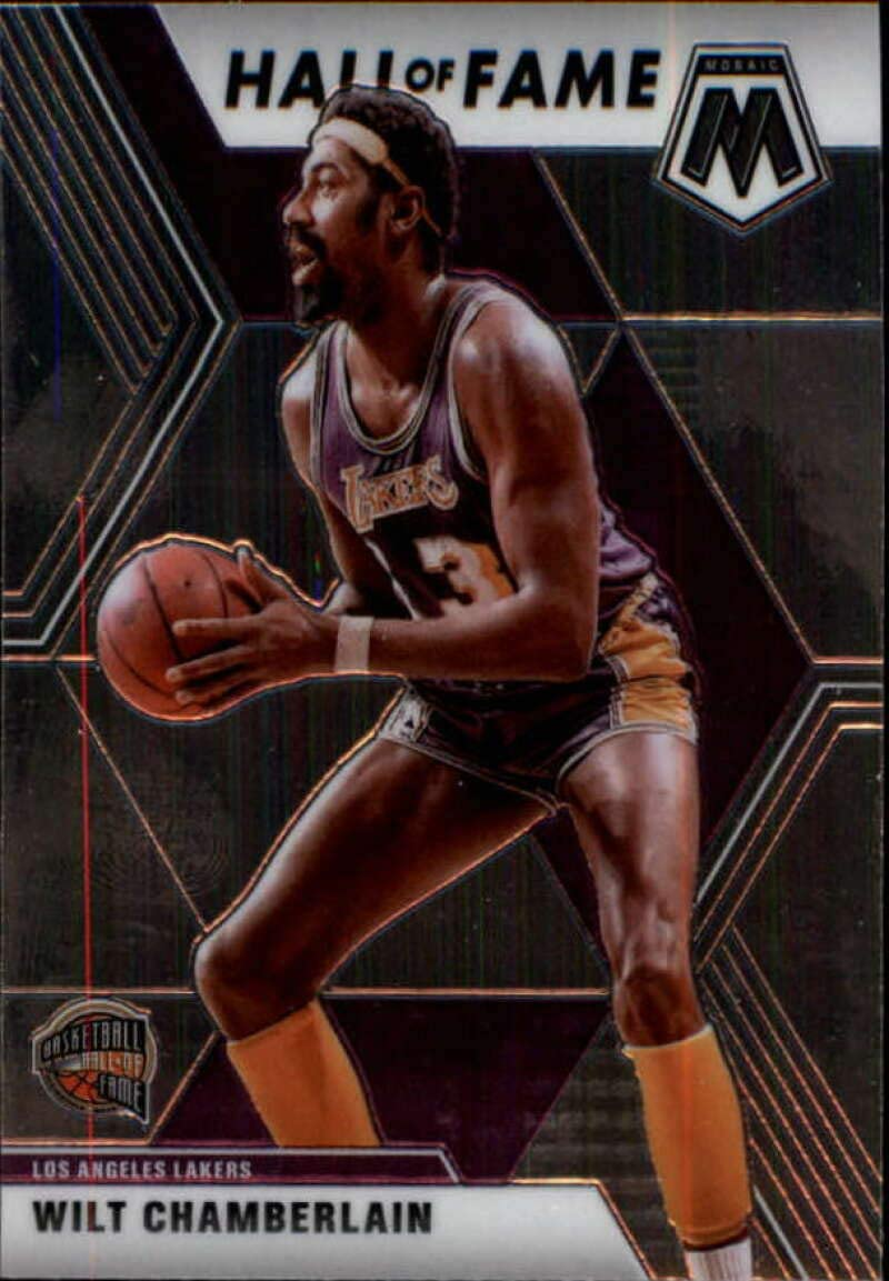 2019-20 Panini Mosaic #285 Wilt Chamberlain Los Angeles Lakers NBA Basketball Card NM-MT
