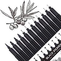Micro-Pen, Fineliner Ink Pens, Black Fineliner Drawing Pen, Waterproof,Great for Artist Illustration, Sketching…