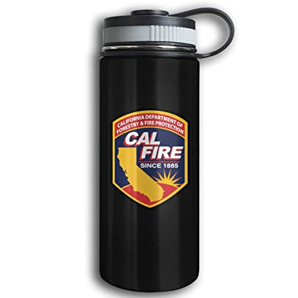 amazon com california cal fire logo sport bottle stainless steel
