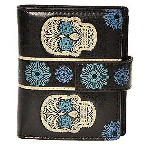 Shag Wear Women's Small Zipper Wallet Skull ()