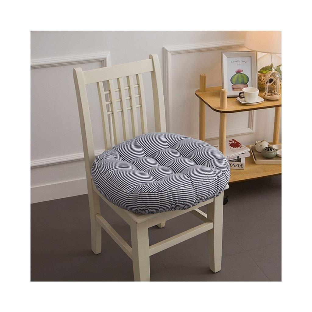 Cushion, Padded Cushion Chair Cushion Office Cushion Student Cushion Classroom Stool Butt Pad Four Seasons Breathable Round (color : Black, Size : 40cmx40cmx10cm)
