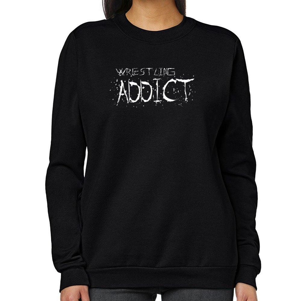 Teeburon Wrestling addict Women Sweatshirt