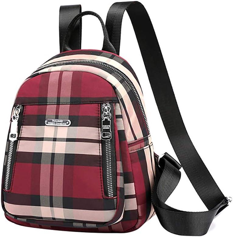 Korean Style Mini Plaid Backpack Lightweight Daily Tiny Daypack for Women Girls