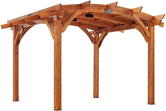 The Outdoor GreatRoom Company Pérgola de Madera arqueada con Techo ...
