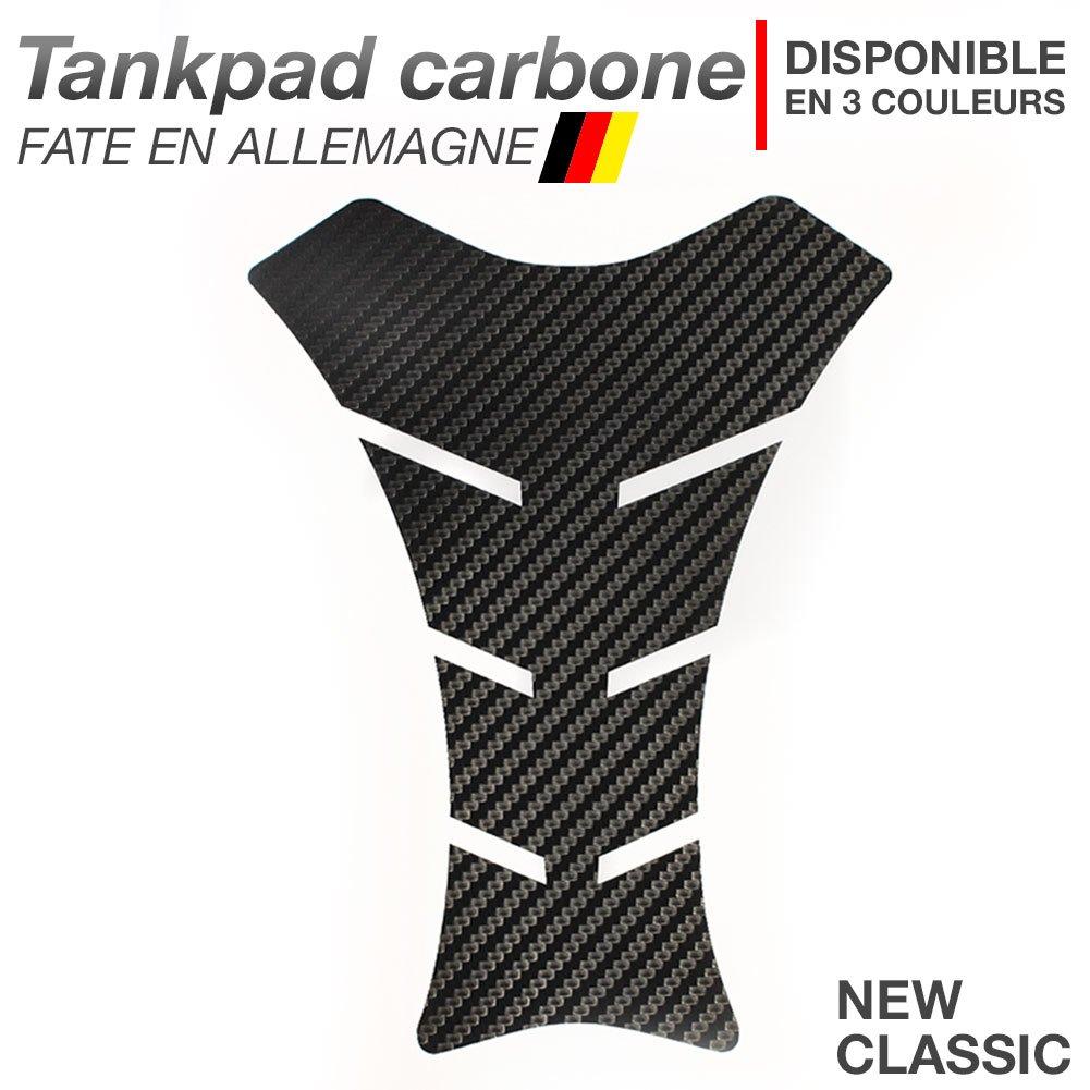 Motoking Tankpad carbone NEW-CLASSIC NOIR disponible en 3 couleurs universel r/éservoir de la moto et de la protection de la peinture