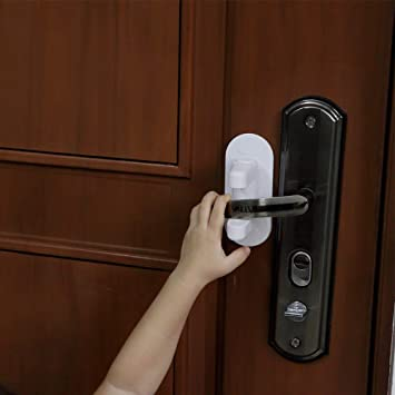 Amazon Com Door Lever Lock 2 Pack Child Proof Doors Handles 3m