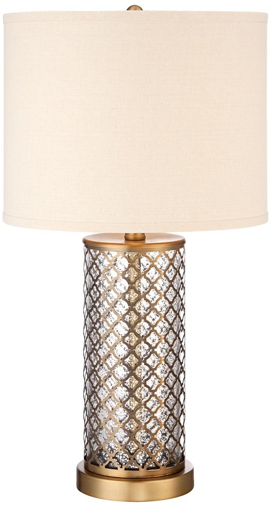 Alcazar brass and mercury glass table lamp amazon aloadofball
