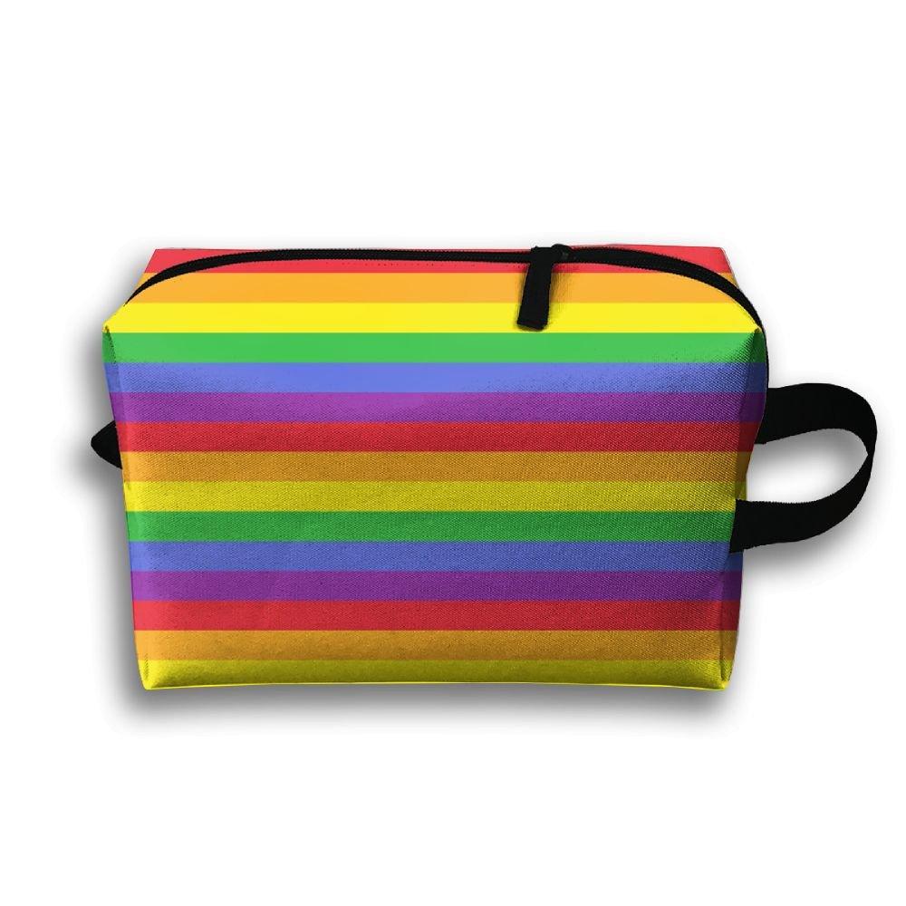 7ac9e1091d8b 50%OFF Leisue LGBT Gay Pride Rainbow Stripes Cosmetic Bag Zipper ...