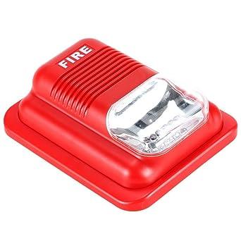 Lifesongs Sirena de alarma de incendio Strobe, alarma de incendio con luz estroboscópica Sistema de