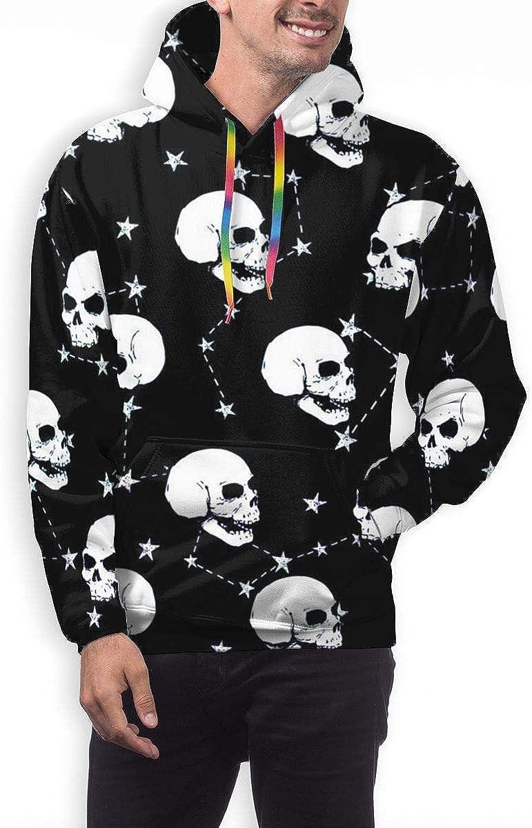 Mens Hoodie Skull Starry Sky Sweate Sweatshirt Mens Casual Hoodie Casual Top Hooded