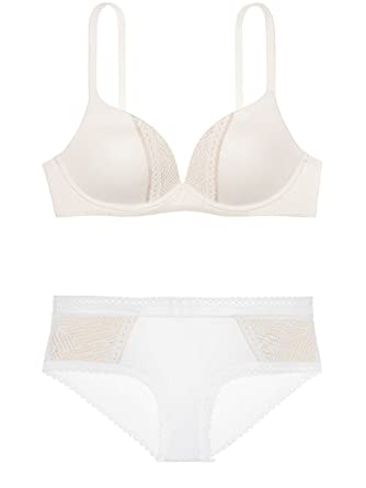 1cb9b79dfbeb4 Victoria s Secret Body by Victoria Coconut White Trapped Lace with ...