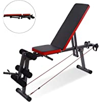 KAC Adjustable Weight Bench, 5 Levels Workout Bench with Leg Extension Flat/Decline/Incline/ Utility Bench Press for Full Body Workout