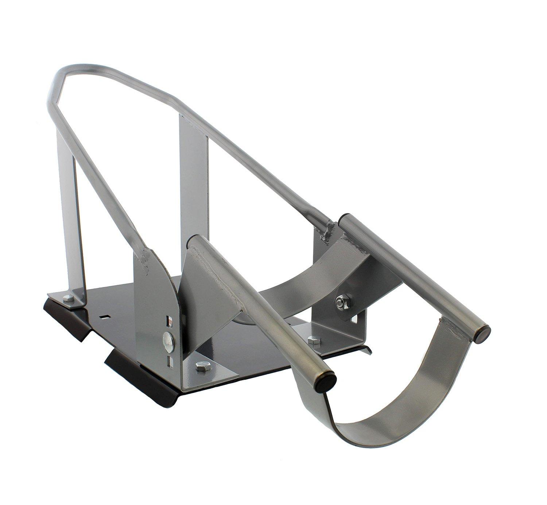 ABN Removable Trailer Wheel Chock - Universal Stopper Cradle Holder for Standard Motorcycle Bike Front Wheels