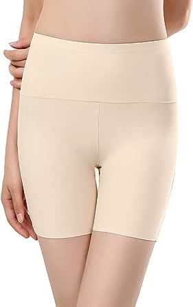 Bolivelan Shapewear Boyshort High Waist Seamless Shaping Boyshort Smooth Slip Short Panties for Under Dresses