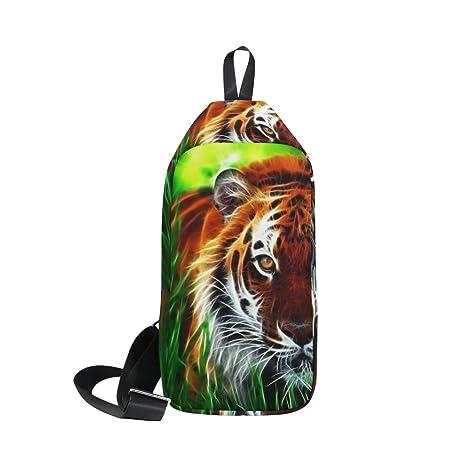 DragonSwordlinsu COOSUN Tiger 3D Digital Picture Sling Bag Shoulder Chest Cross Body Mochila Ligera Casual Daypack