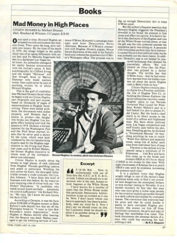 Howard Hughes original clipping magazine photo 1pg 8x10 #R3631