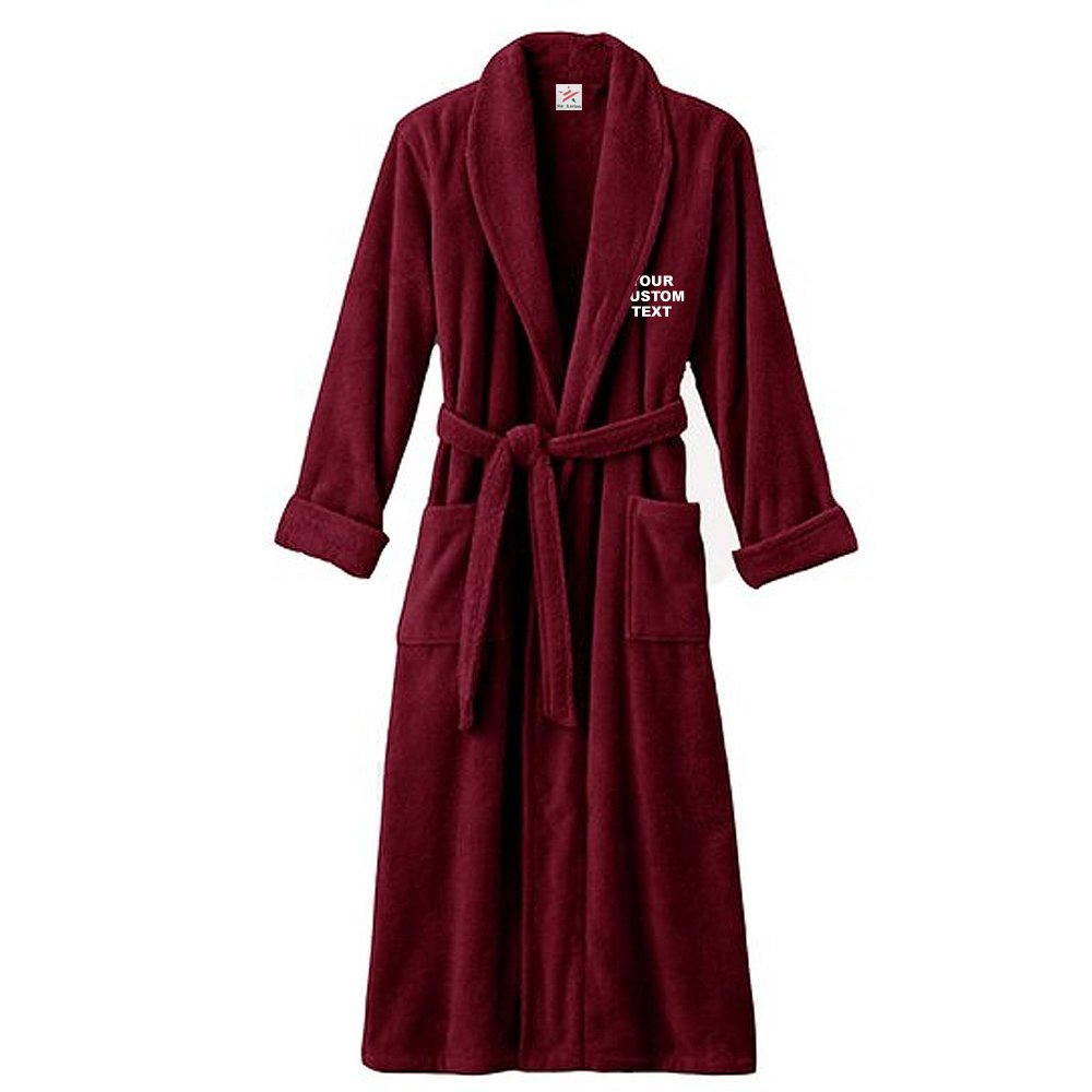94bcb8a2eb UNISEX Personalised Bathrobe with YOUR CUSTOM TEXT Embroidery on TERRY  TOWEL 100% COTTON Terry Towel