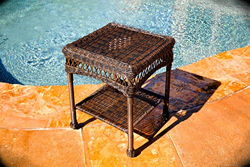 Tortuga Portside Patio End Table in Dark Roast For Sale