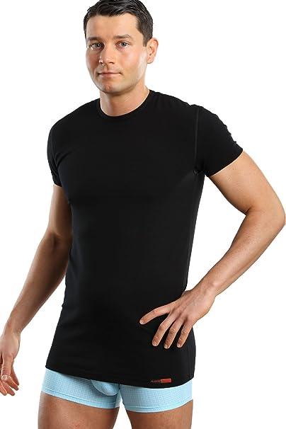 ALBERT KREUZ Camiseta Interior Negra para Hombre con Cuello ...