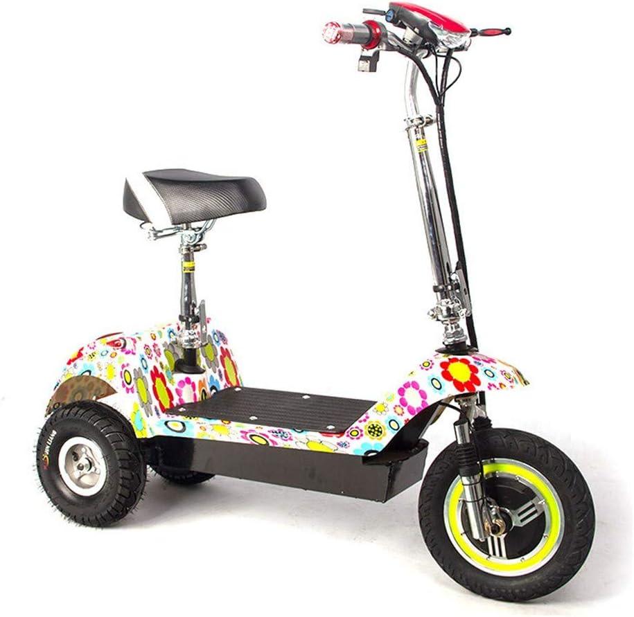 XMIMI Triciclo eléctrico Plegable Mini pequeño portátil Adulto Anciano discapacitado Ciudad Hombres y Mujeres Batería de Litio Batería Scooter 36V Batería de Plomo ácido
