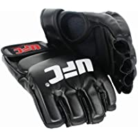 UFC Black Fighting Boxing Sports Leather Gloves